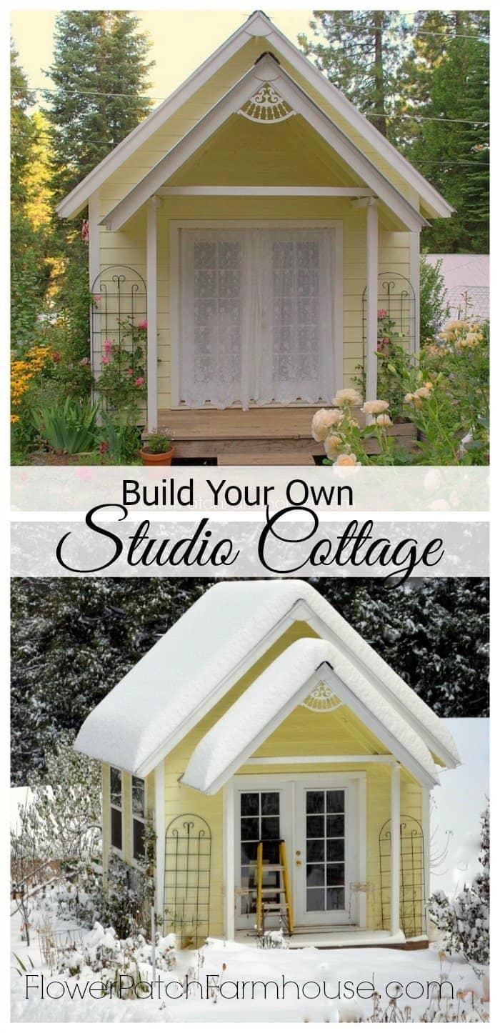diy backyard garden studio cottage flowerpatchfarmhouse com an