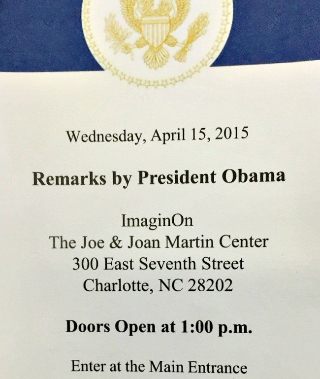 Afternoon with President Obama