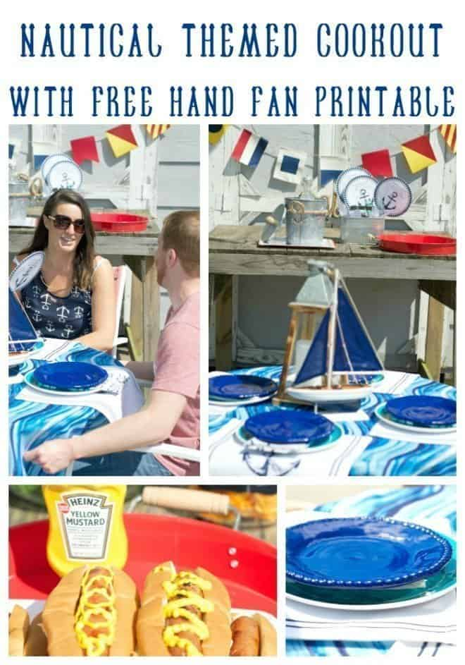 Nautical Themed Cookout with Free Printable