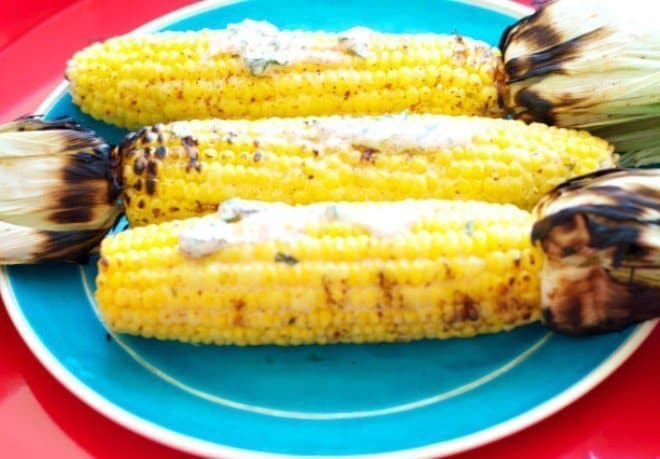 Avocado & Lemon-Basil Corn on the Cob