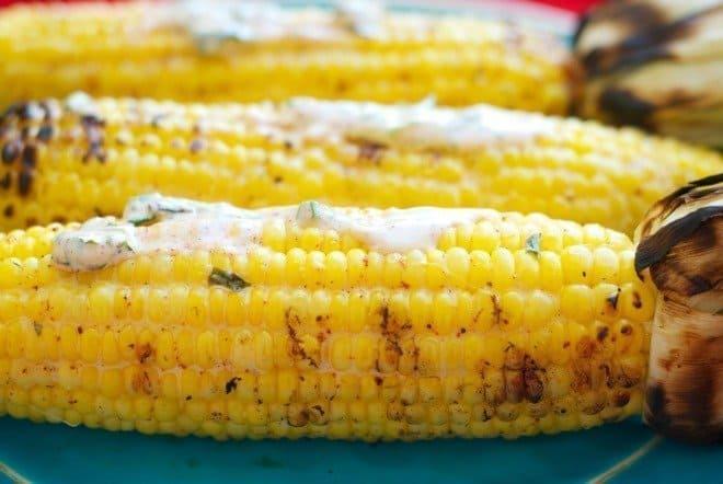 Avocado & Lemon-Basil Corn on the Cob