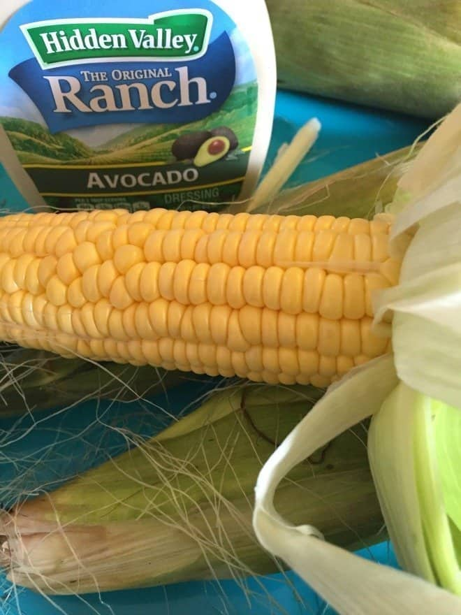 Avocado & Lemon Basil Corn on the Cob