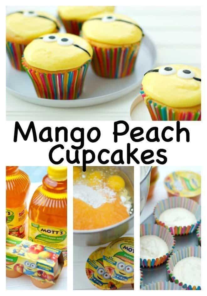 Mango Peach Cupcakes
