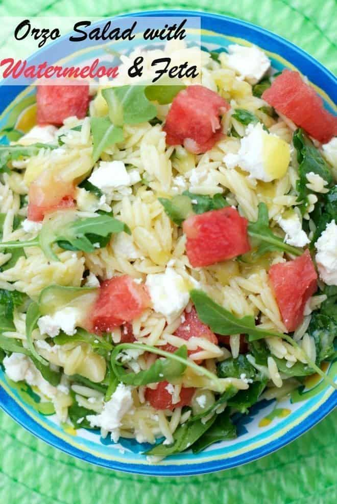 Orzo Salad with Watermelon & Feta