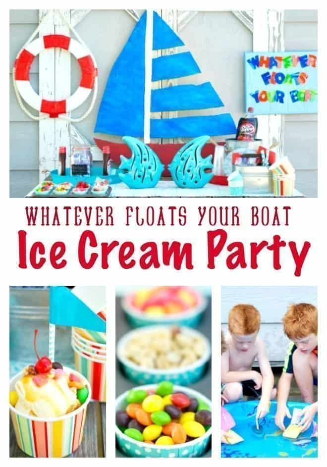 Whatever Floats Your Boat plus Snickers Ice Cream Cake