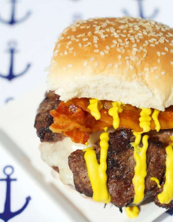 Brie Stuffed Burger/Nautical Themed Cookout