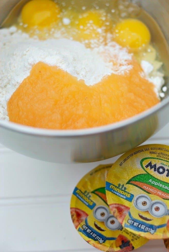 Mango Peach Minion Cupcakes