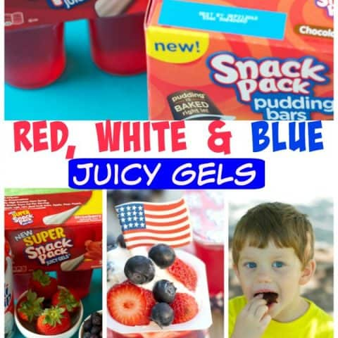 Red, White & Blue Juicy Gels