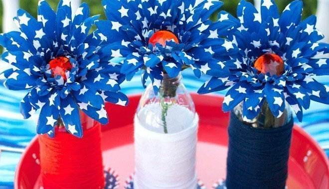 Snapple Bottles for Centerpieces