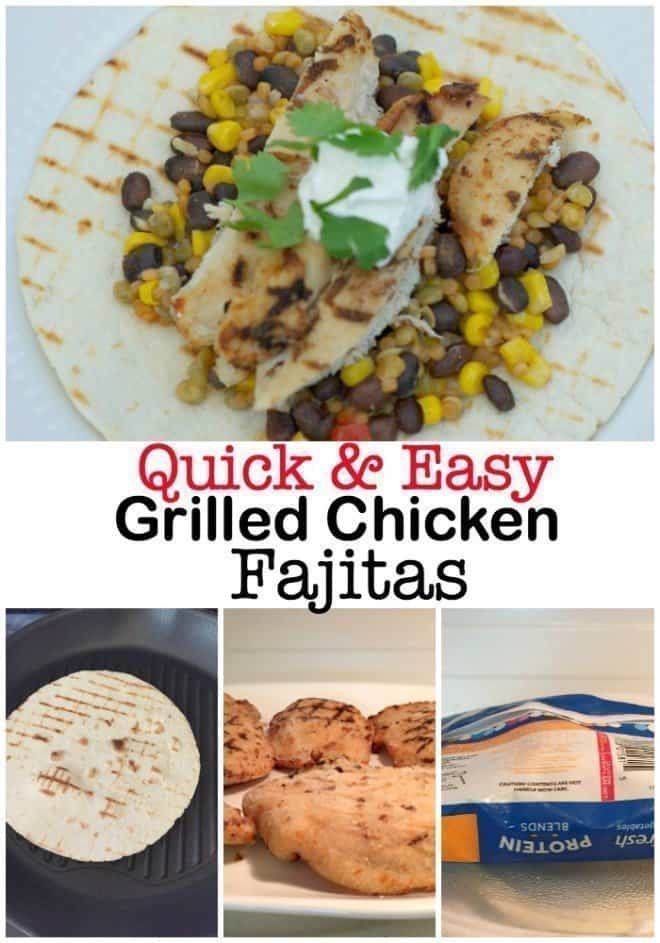 Quick & Easy Grilled Chicken Fajitas featuring Tyson and Birds Eye