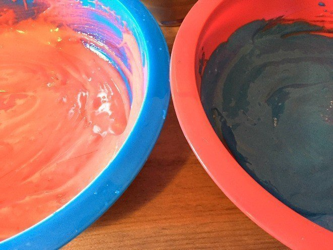 Red, White & Blue Cupcake Batter
