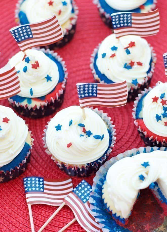 Patriotic Cupcakes - Red White & Blue Cupcakes