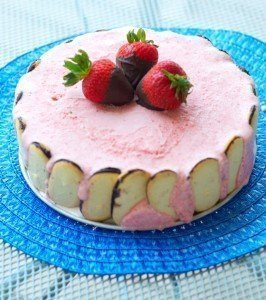 Chocolate-Strawberry Semifreddo
