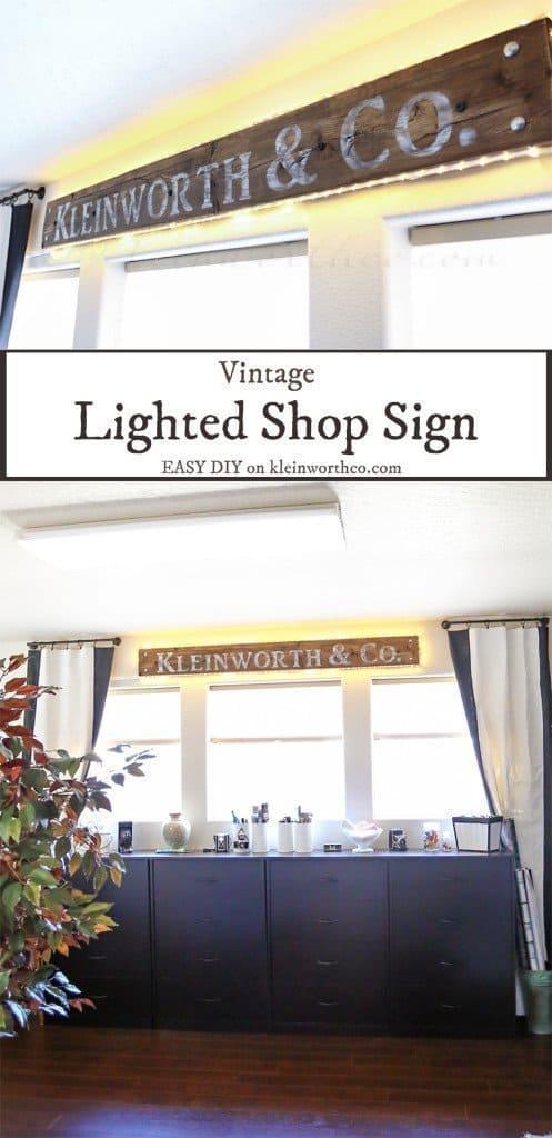 Vintage Lighted Sign