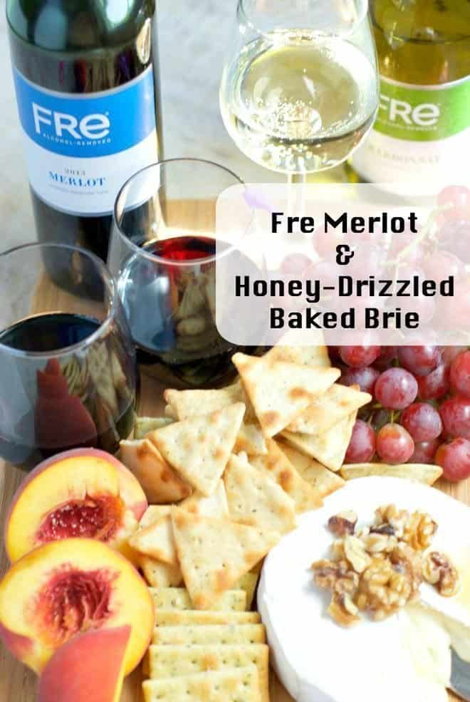 fre merlot  honeydrizzled baked brie  an alli event