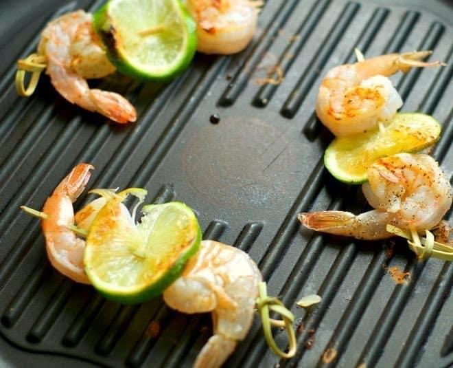 Gazpacho Shooters & Grilled Shrimp Skewers