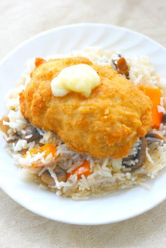 Barber Chicken Cordon Bleu and Basmati Rice Pilaf