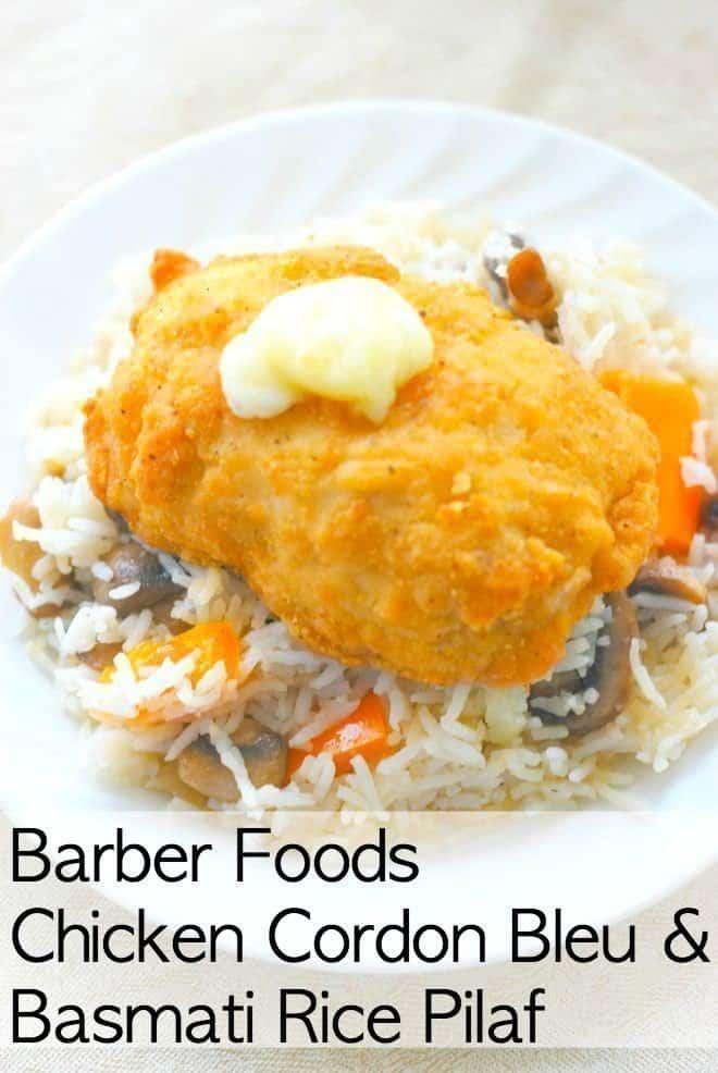 Chicken Cordon Bleu & Basmati Rice Pilaf