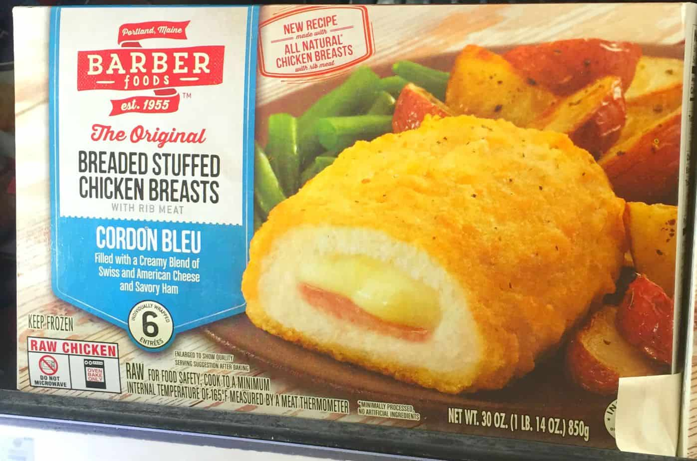 Barber Foods Chicken Cordon Bleu - An Alli Event