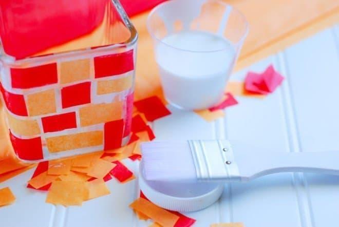 DIY Fall Mosaic Jar