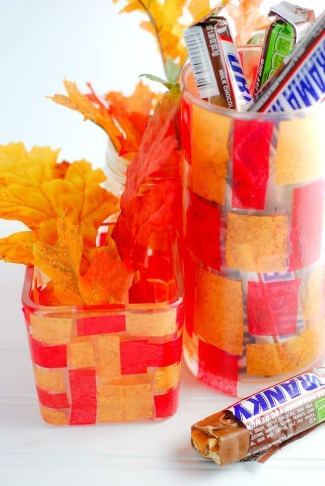 DIY Fall Candy Jar