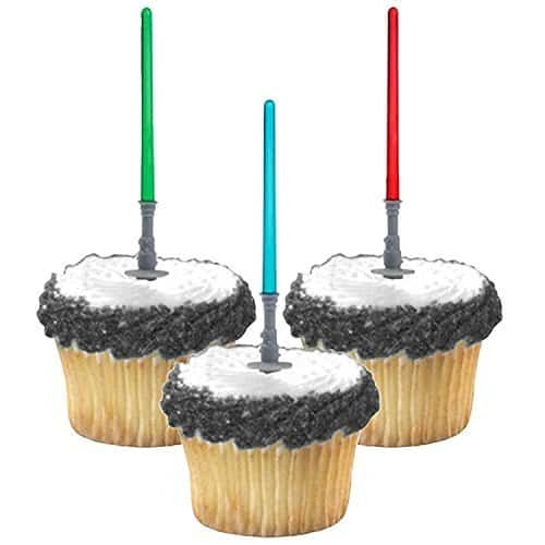 LightSaber Cupcake Picks for May The Force Be With You