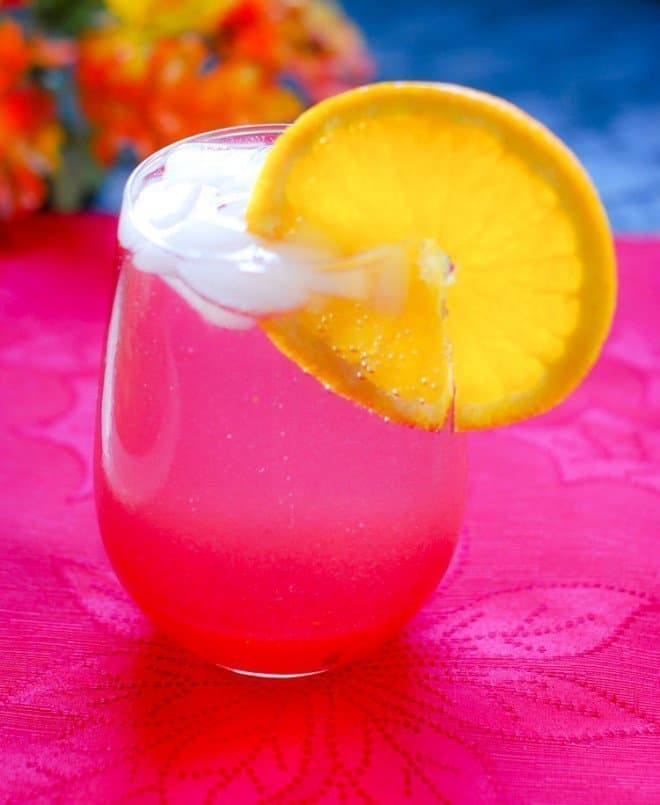 ... at the beautiful color of this spritzer makes me want to celebrate