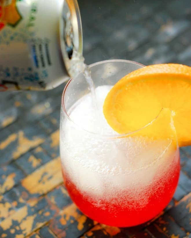 Sparking Orange Cranberry Spritzer