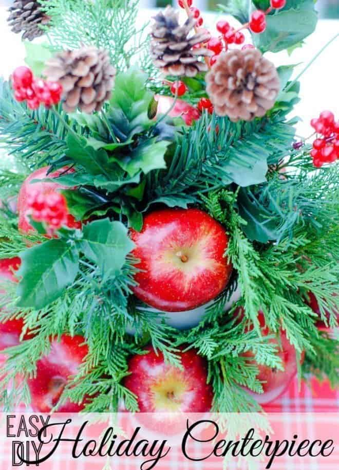 Easy DIY Apple Centerpiece for the Holidays