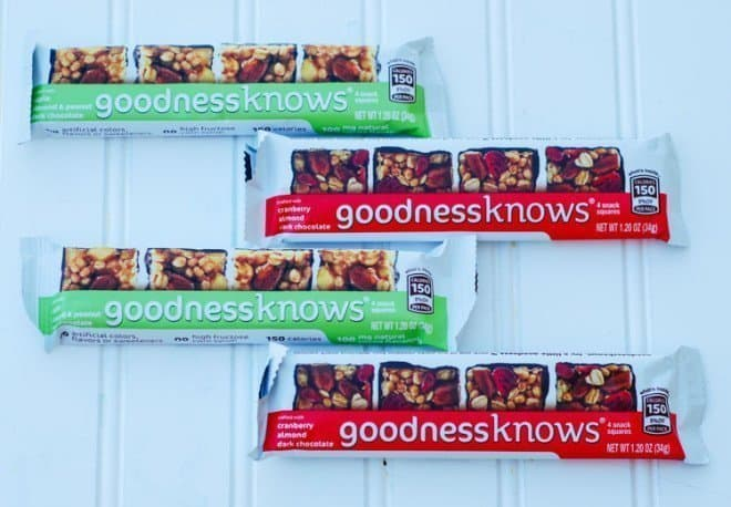 On-The-Go Snacking with goodnessknows® snack squares