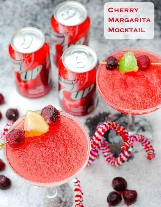 Cherry Margarita Mocktail featuring Cherry 7UP®