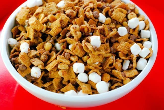 S'mores Snack Mix & Inside Out Movie Night