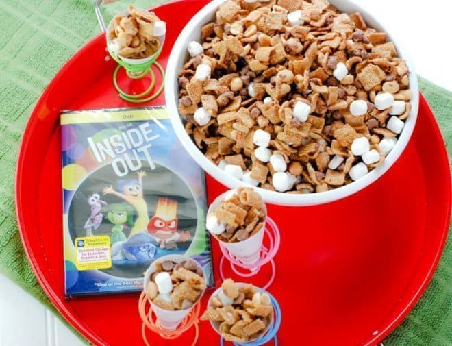 S'mores Snack Mix & Inside Out Viewing Party