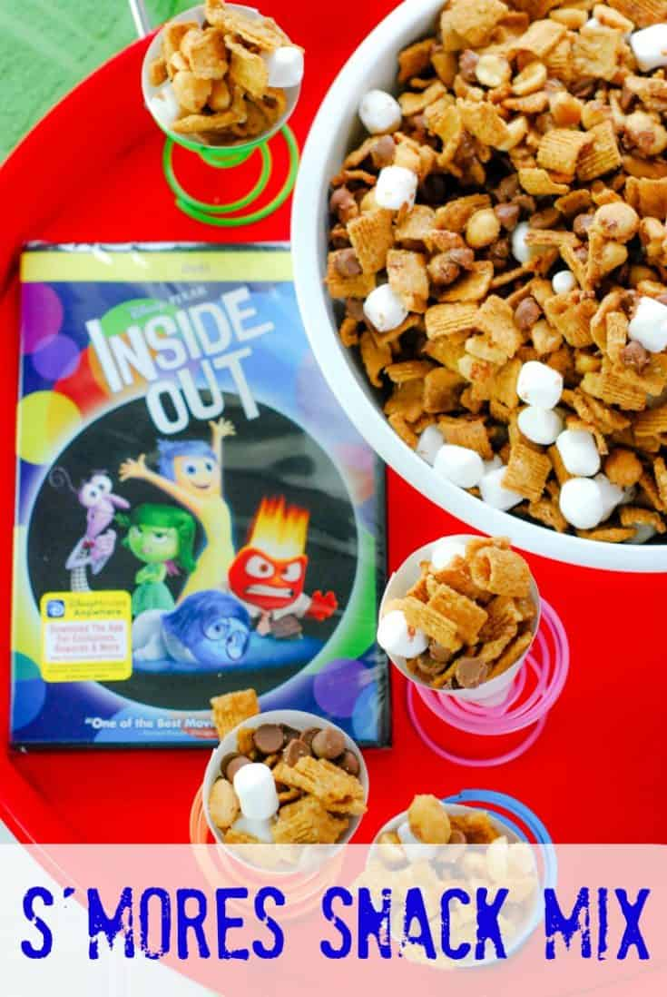 S'mores Snack Mix is the perfect treat for movie night. I