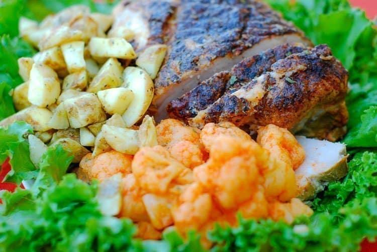 Spicy Pork Tenderloin & Flavor Full Sides