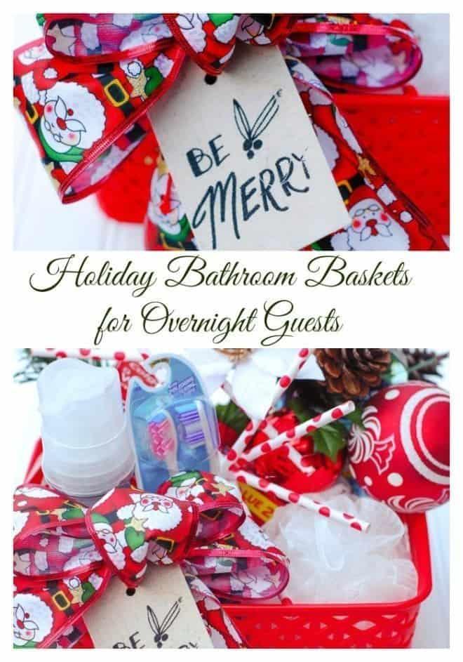 Holiday Bathroom Basket