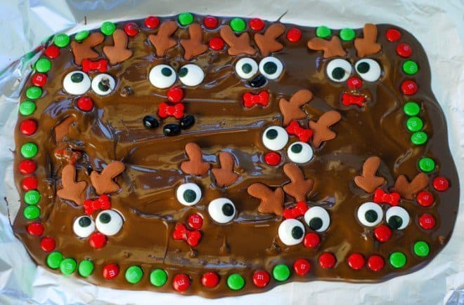 Rudolf the Red-Nosed Chocolate Bark