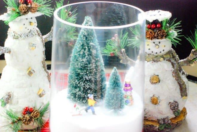 Easy DIY Holiday Christmas Centerpiece