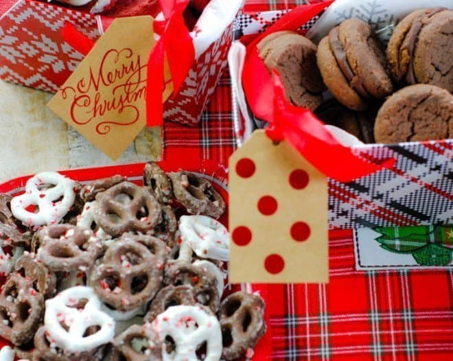 Ideas & DIY Centerpiece for a Cookie Exchange Party - Free Printables, too!