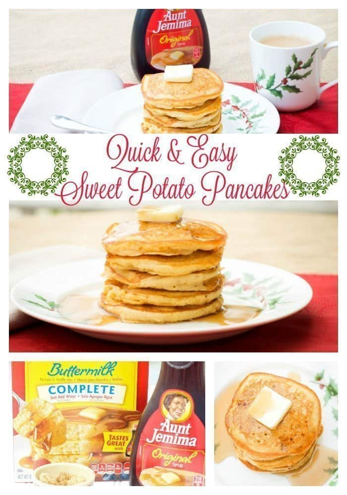 Quick and easy sweet potato pancakes an alli event sweet potato pancakes are perfect for family holiday breakfast and brunch get togethers aunt jemima ccuart Images