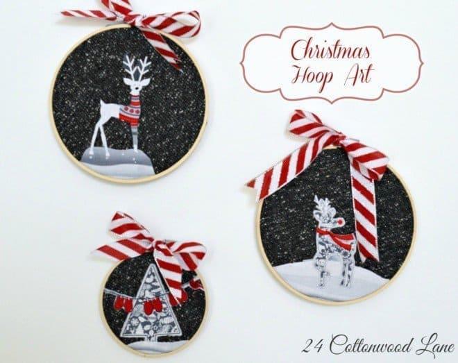 DIY Sunday Showcase - Christmas Hoop Art
