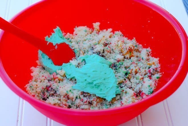White Peppermint Funfetti Cake Balls