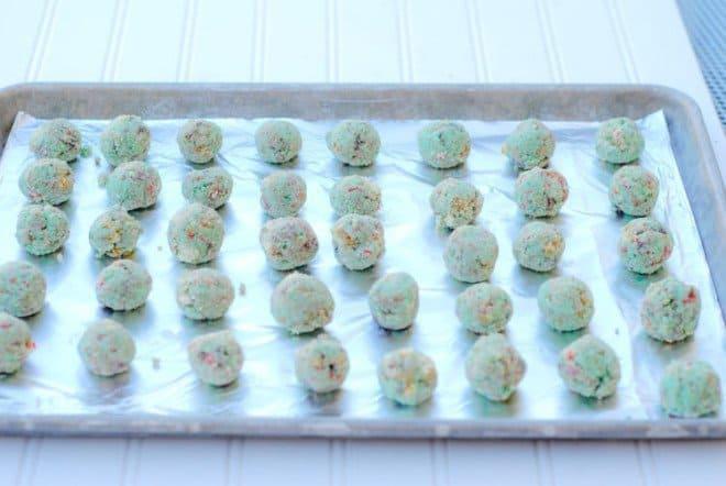 White Pepermint Funfetti Cake Balls