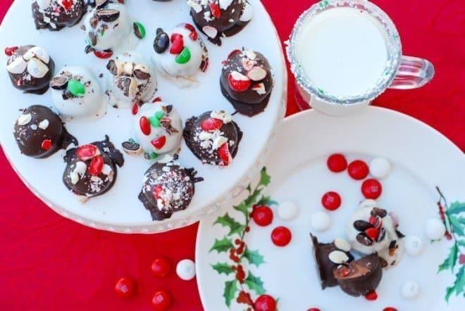 Festive Chrismas Balls - White Peppermint Funfetti Cake Balls