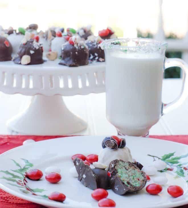 White Peppermint Funfetti® Cake Balls