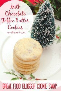 Holiday Cookies Milk Chocolate Toffee Butter Cookies