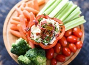 Amazing Party Dips - Bacon Wrapped Snacks - Jalapeno Popper Dip with Bacon & Chives
