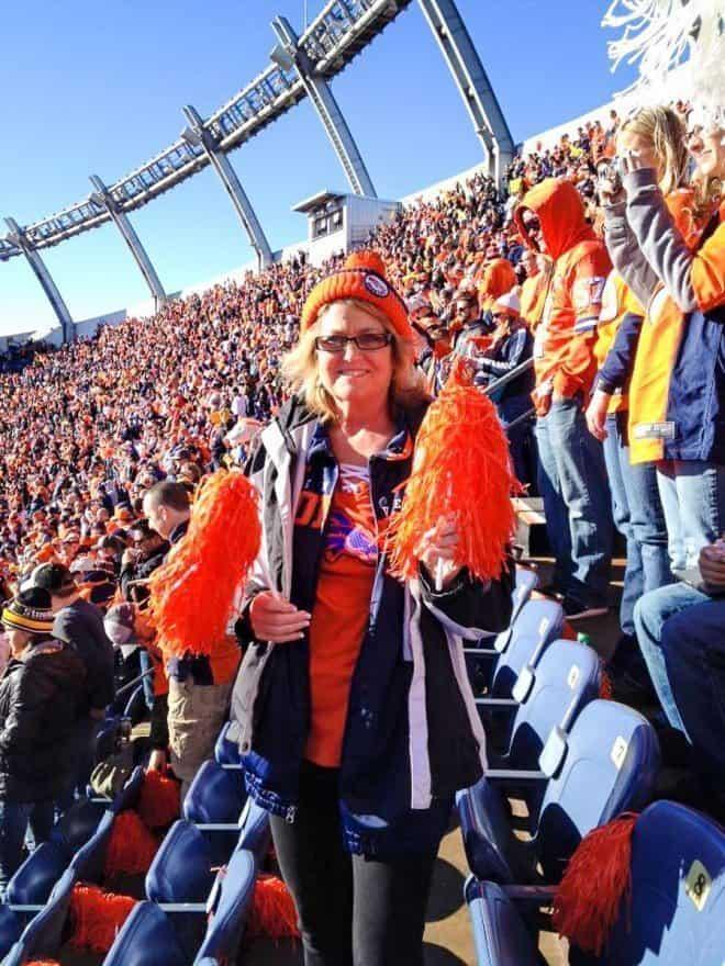Melinda at the Denver Game