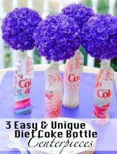 3 Unique Diet Coke Bottle Centerpieces