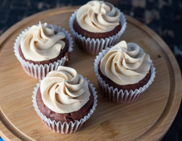 Best Frosting - Chocolate Cupcakes with Peanut Butter Frosting